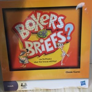 Hasbro boxer or briefs adult party game